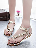 Women's Shoes Bohemian Style Simple Wedge Heel Comfort Sandals Outdoor / Casual Silver / Gold