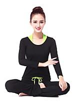 יוגה מדים בסטים מכנסיים+צמרות נושם / wicking / חלק גמישות גבוהה בגדי ספורט לנשים-אחרים יוגה / כושר גופני / ספורט פנאי