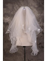Wedding Veil Three-tier Elbow Veils Cut Edge / Pencil Edge