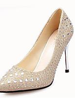 Zapatos de mujer-Tacón Stiletto-Tacones-Tacones-Boda-Sintético-Negro / Rojo / Plata / Oro