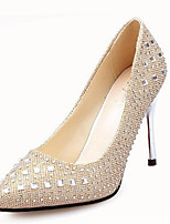 Women's Shoes Synthetic Stiletto Heel Heels Heels Wedding Black / Red / Silver / Gold
