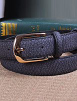 Women Leather The Crocodile Grain Skinny Belt,Cute / Party / Casual Alloy