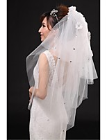 Wedding Veil Four-tier Elbow Veils Cut Edge