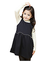 Girl's Dress,Polyester Summer Black / Pink