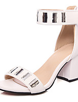 Women's Shoes Chunky Heel D'Orsay & Two-Piece / Open Toe Sandals Wedding / Party & Evening / DressBlack / Pink / White /