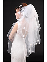 Wedding Veil Four-tier Fingertip Veils Cut Edge