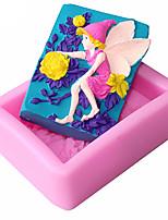 Angel Shaped  Soap Molds Mooncake Mould Fondant Cake Chocolate Silicone Mold, Decoration Tools Bakeware
