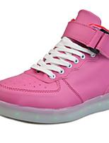 Scarpe Donna-Sneakers alla moda-Tempo libero / Casual / Sportivo-Punta arrotondata-Piatto-Finta pelle-Blu / Rosso