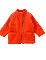 Veste & Manteau Fille de Printemps Coton Orange