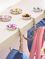 gancho bolsa de diamantes de imitación de la moda monedero del encargado del soporte de la bolsa plegable de metal hangbag (color al azar)