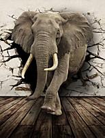 JAMMORY Large Murals of Elephants Animals / Cartoon / 3D Wall Stickers 3D Wall Stickers,Canvas S M L XL XXL 3XL