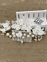 Mulheres / Menina das Flores Imitação de Pérola / Plástico Capacete-Casamento / Ocasião Especial / Casual / Ao ar LivrePentes de Cabelo /
