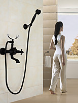 Shower Faucet / Bathtub Faucet Contemporary Waterfall / Handshower Included Brass Chrome