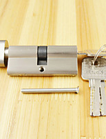 Lock Cylinder Thumb Turn Cylinder 70mm(35/35),Lock Cylinder with Knob with 3 Keys, Brush Nickle