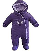 Girl's Purple Overall & Jumpsuit Cotton Winter
