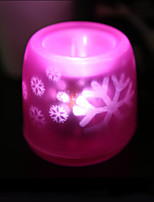 Creative Voice Control Projection Candle Lamp Can Blow Out Light a Night Light Home Decoration(Assorted Color)
