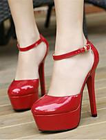 Zapatos de mujer-Tacón Stiletto-Tacones-Tacones-Boda / Fiesta y Noche-Semicuero-Rojo