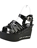 Women's Shoes PU / Heels Outdoor / Office & Career / Party & Evening / Dress / Casual Black / White / Silver