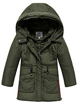 Girl's Down & Cotton Padded,Cotton Winter / Fall Green