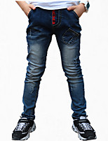 Boy's Cotton Jeans,All Seasons Color Block