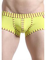 Men's Cotton Stripes Boxer Briefs Underwear Men's Lingerie