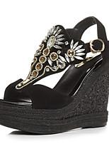 Women's Shoes Suede Wedge Heel Wedges / Platform / Slingback / T-Strap / Open Toe Sandals Outdoor / Party