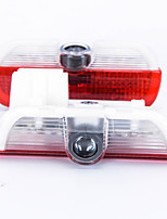 2pcs conduit porte de la voiture de bienvenue courtoisie de lumière conduit projecteur logo fantôme ombre lumière laser de voiture pour