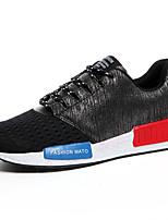 Hombre-Tacón Plano-Confort-Zapatillas de deporte-Exterior / Casual / Deporte-Tul-Negro / Azul / Rojo