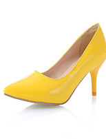 Women's Shoes Stiletto Heel Pointed Toe Heels Dress Black / Blue / Yellow / Red / White / Gold
