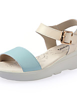 Women's Shoes Leather Flat Heel Comfort Sandals Casual Blue / Pink / Almond