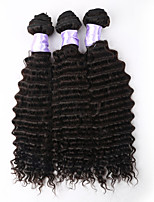 3pcs / lot 8a brésilienne de cheveux vierge brésilienne de cheveux vierge vente chaude bouclés profonde bouclés armure bouclée vague