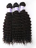 3pcs / lot 8a brasilianische lockiges reines Haar brasilianisches tiefes lockiges reines Haar heißer Verkauf lockige brasilianische tiefe