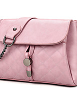 Women PU Flap Shoulder Bag / Satchel-White / Pink / Purple / Black
