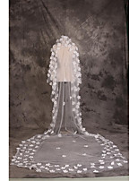 Wedding Veil One-tier Cathedral Veils Cut Edge Tulle White White
