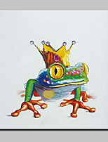 Handmade Modern Cartoon Frog Princer Animal Oil Painting On Canvas For Living Room Home Decor Wall Paintings Whit Frame