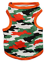 katten / honden T-shirt / Kleding / Kleding Zwart / Oranje Lente/Herfst camouflage Modieus-Pething®