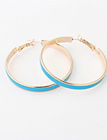 Korean Fashion Sweet Girls Candy Color Big Circle Hoop Earrings Statement Jewelry