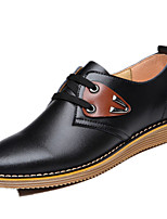 Men's Shoes Outdoor / Office & Career Leather Oxfords Black / Brown