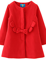 Girl's Black / Blue / Red Jacket & Coat,Dresswear Cotton Winter / Fall