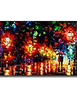 60 * 90cm de hand geschilderde landschap olieverf met frame