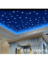 Romance Star and Moon Wall Decal Shapes / 3D Wall Stickers Luminous Wall Stickers,pvc 60*60cm