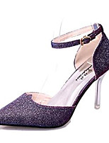 Women's Shoes Leatherette Stiletto Heel Heels Heels Party & Evening Black / Purple / White / Gold