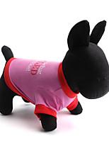 Hunde T-shirt / Kleidung / Kleidung Grün / Rosa Sommer Blumen / Pflanzen Modisch-Pething®