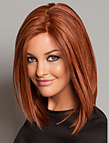 Fashionable Brown Color Middle Length Straight Cosplay Synthetic Wigs