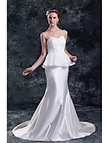 Trumpet/Mermaid Wedding Dress-Court Train Sweetheart Lace / Satin