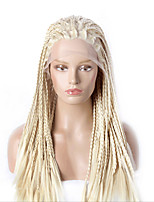 Fashion Synthetic Wigs Lace Front Wigs 32inch Braided Yellow Heat Resistant Hair Wigs Women