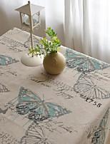 papillon tissu de table à motifs mode hotsale de haute qualité draps en coton table basse carrée couverture en tissu éponge