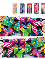 Nail Art Butterfly Water Transfer Stickers Nail Wraps Foil Polish Decals,4sheets DIY Beauty  Decoration Tools