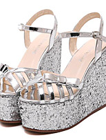 Women's Shoes Leatherette Summer Creepers Outdoor / Casual Platform Buckle Silver / Gold