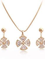 Westernrain Women's Alloy / Titanium Jewelry Set Rhinestone